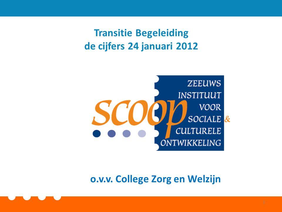 o.v.v. College Zorg en Welzijn Transitie Begeleiding de cijfers 24 januari 2012 1