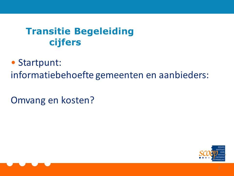 Transitie Begeleiding cijfers Startpunt: informatiebehoefte gemeenten en aanbieders: Omvang en kosten? 2