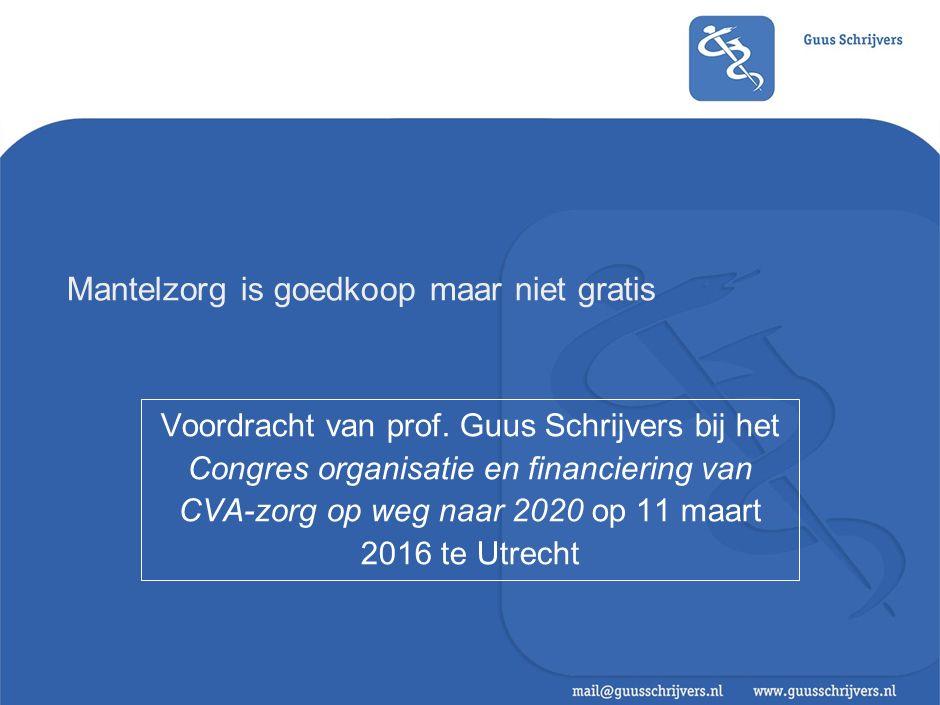 Mantelzorg is goedkoop maar niet gratis Voordracht van prof.