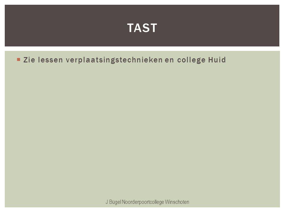  Zie lessen verplaatsingstechnieken en college Huid J Bügel Noorderpoortcollege Winschoten TAST
