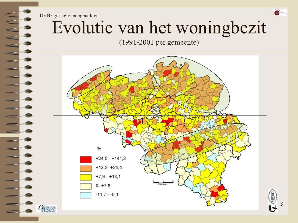 3 Evolutie van het woningbezit (1991-2001 per gemeente) De Belgische woningmarkten
