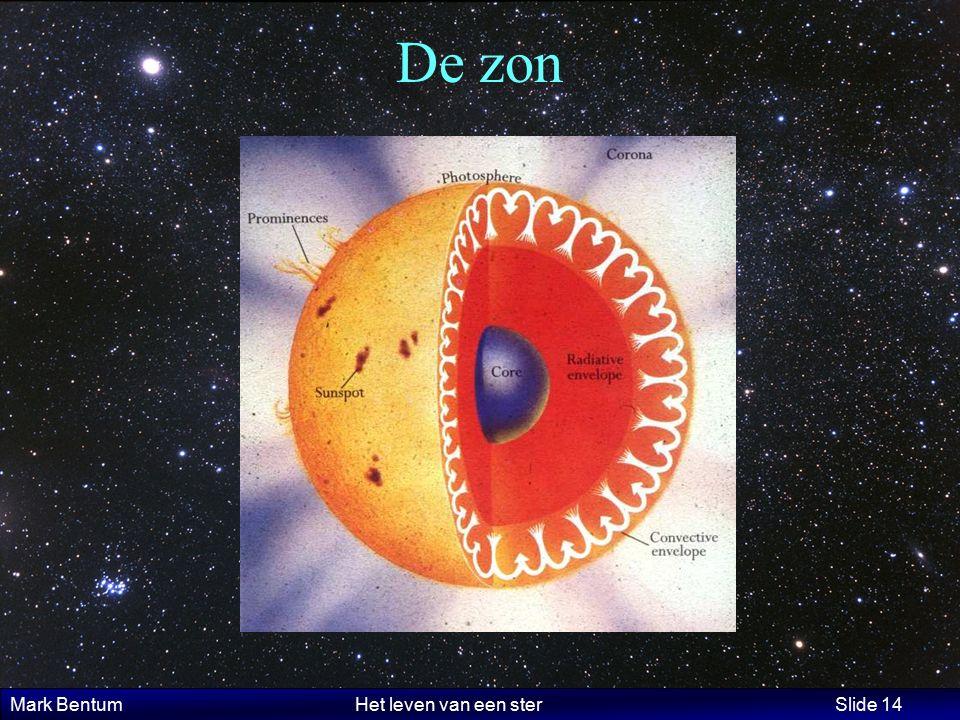 Mark Bentum Het leven van een ster Slide 14 De zon