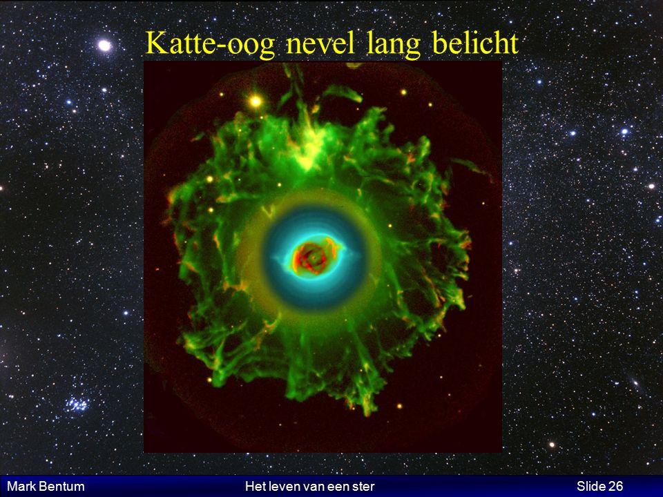 Mark Bentum Het leven van een ster Slide 26 Katte-oog nevel lang belicht