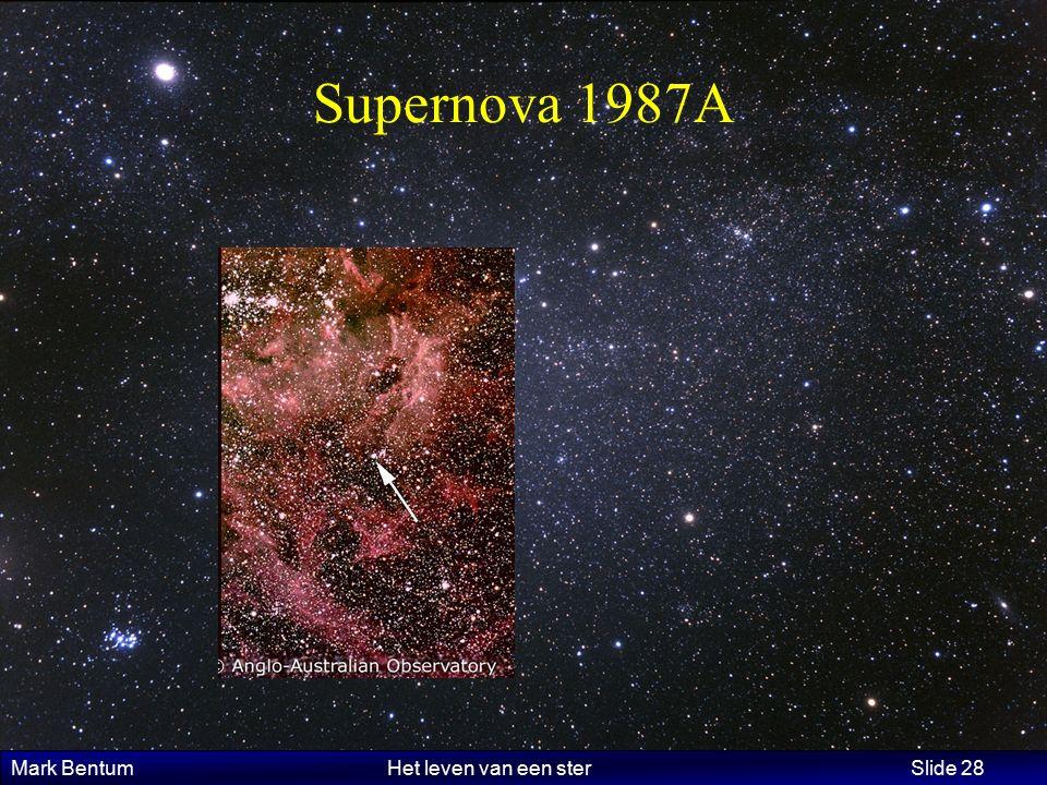 Mark Bentum Het leven van een ster Slide 28 Supernova 1987A