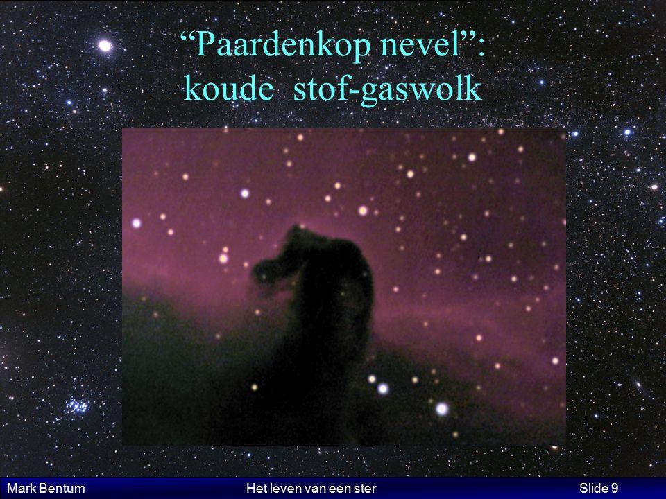 """Mark Bentum Het leven van een ster Slide 9 """"Paardenkop nevel"""": koude stof-gaswolk"""