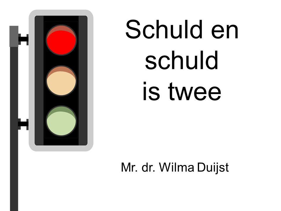 Schuld en schuld is twee Mr. dr. Wilma Duijst
