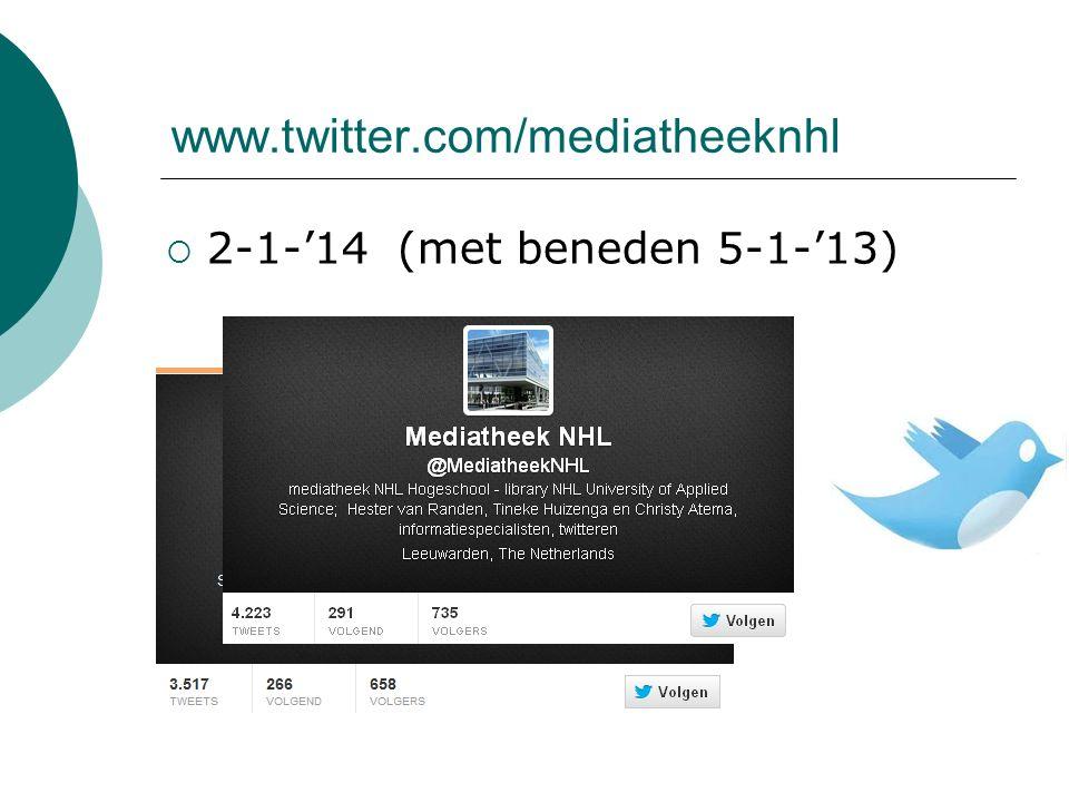 www.twitter.com/mediatheeknhl  2-1-'14 (met beneden 5-1-'13)