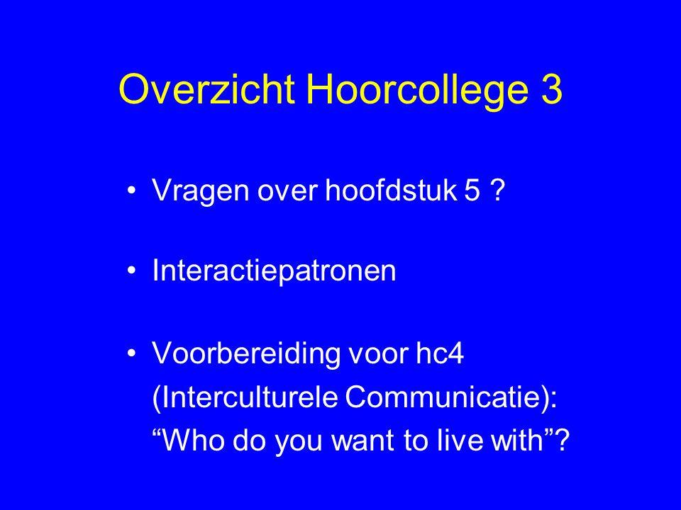 Overzicht Hoorcollege 3 Vragen over hoofdstuk 5 .