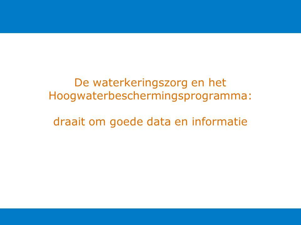 De waterkeringszorg en het Hoogwaterbeschermingsprogramma: draait om goede data en informatie
