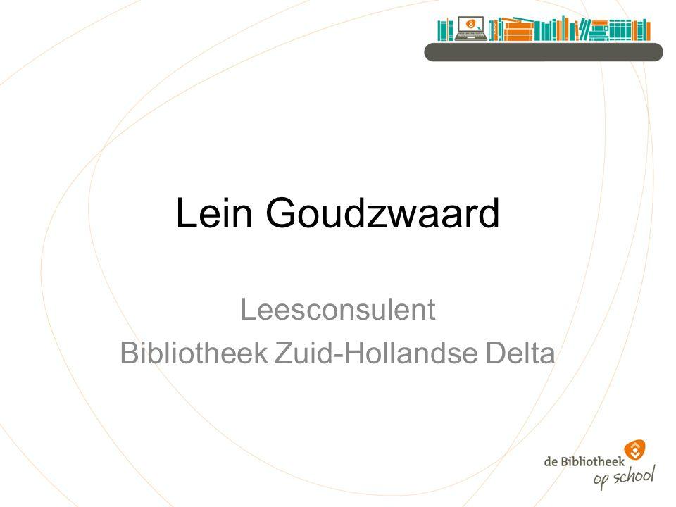 Lein Goudzwaard Leesconsulent Bibliotheek Zuid-Hollandse Delta