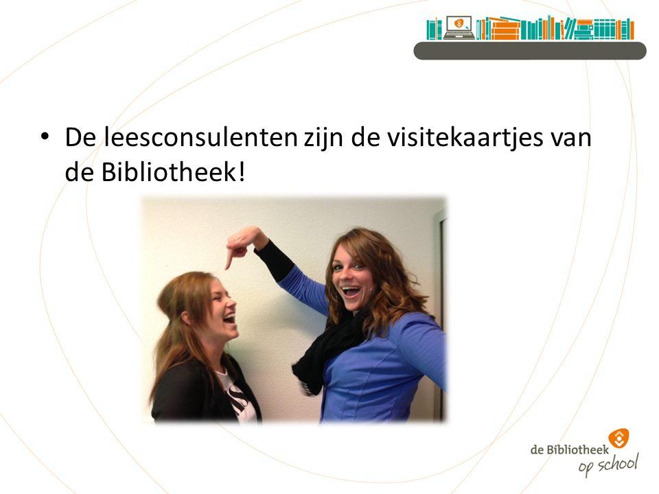 De leesconsulenten zijn de visitekaartjes van de Bibliotheek!