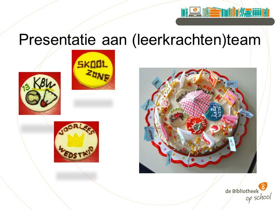 Presentatie aan (leerkrachten)team