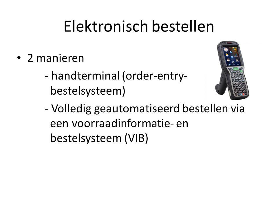 Elektronisch bestellen 2 manieren - handterminal (order-entry- bestelsysteem) - Volledig geautomatiseerd bestellen via een voorraadinformatie- en best