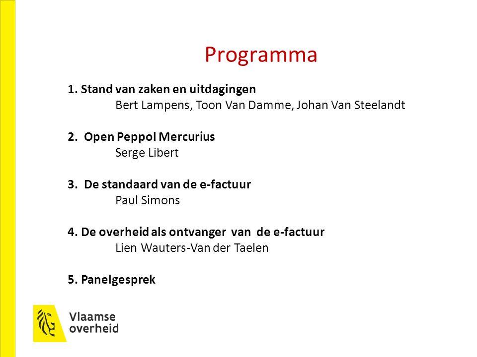 1. Stand van zaken en uitdagingen Bert Lampens, Toon Van Damme, Johan Van Steelandt 2.