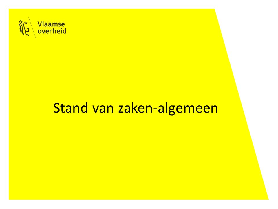 Stand van zaken-algemeen