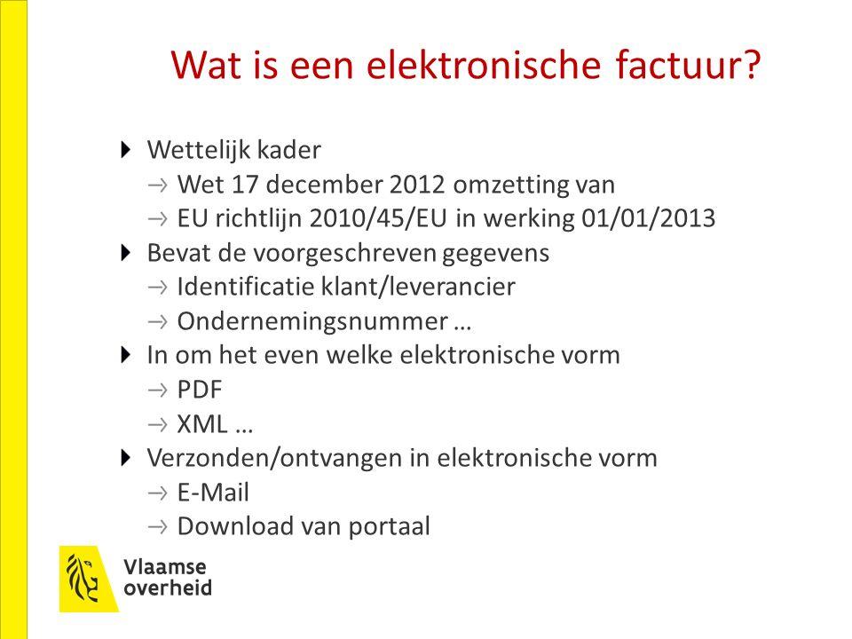 Wat is een elektronische factuur.