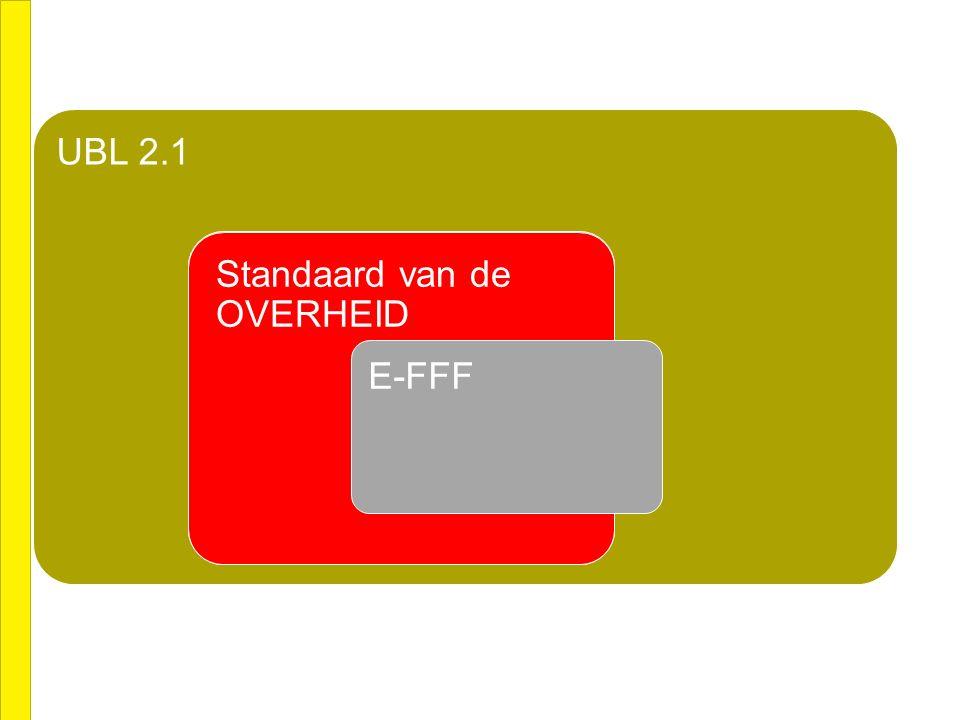 CEN BII UBL 2.1 CEN BIIStandaard van OPEN PEPPOL Standaard van de OVERHEID E-FFF