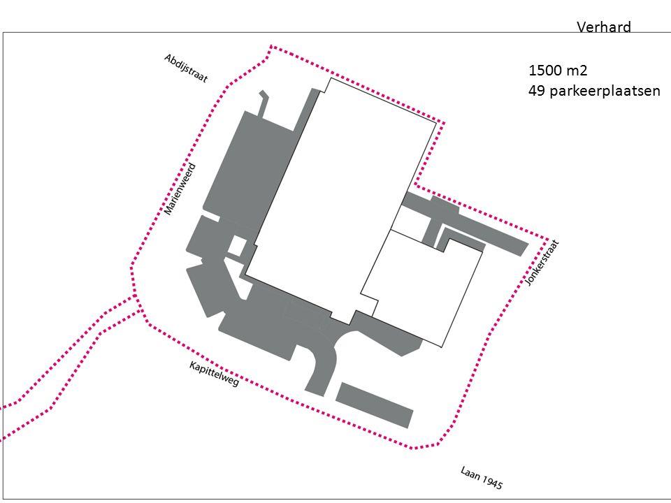 Verhard 1500 m2 49 parkeerplaatsen