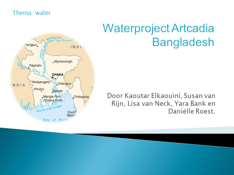 Door Kaoutar Elkaouini, Susan van Rijn, Lisa van Neck, Yara Bank en Daniëlle Roest. Thema: water