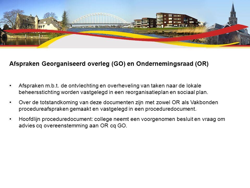 Afspraken Georganiseerd overleg (GO) en Ondernemingsraad (OR) Afspraken m.b.t.