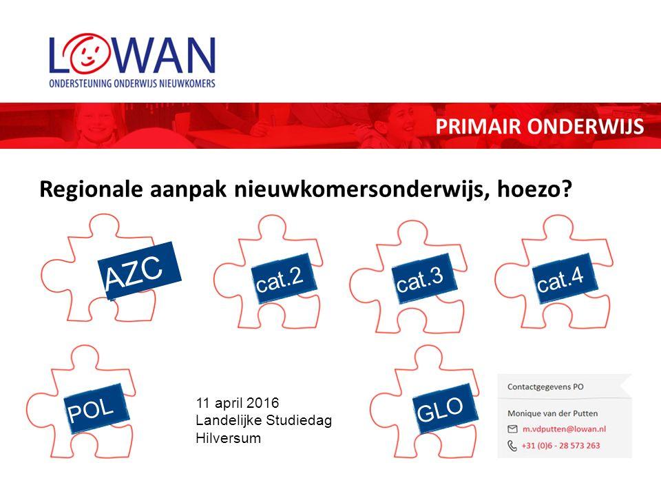 AZC 11 april 2016 Landelijke Studiedag Hilversum cat.3 Regionale aanpak nieuwkomersonderwijs, hoezo.