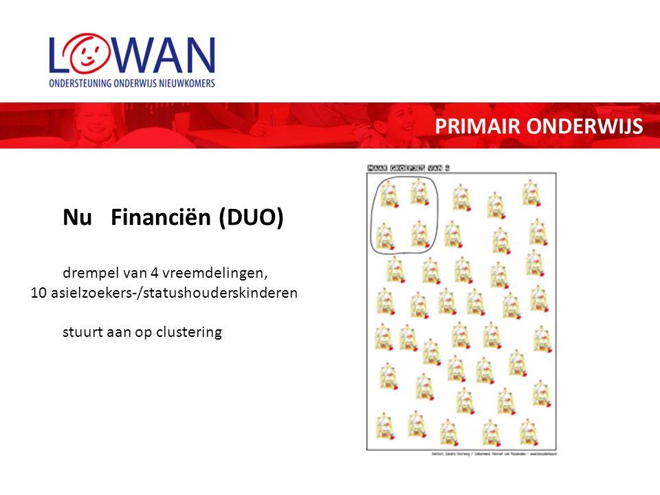 Nu Financiën (DUO) drempel van 4 vreemdelingen, 10 asielzoekers-/statushouderskinderen stuurt aan op clustering