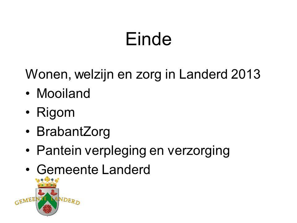 Einde Wonen, welzijn en zorg in Landerd 2013 Mooiland Rigom BrabantZorg Pantein verpleging en verzorging Gemeente Landerd