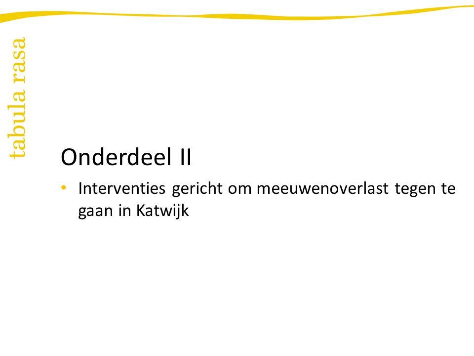 Probleemstelling onderzoek Hoe kunnen bewoners en toeristen worden gestimuleerd hun etensresten in de afvalbak te gooien opdat de meeuwenoverlast in Katwijk vermindert?