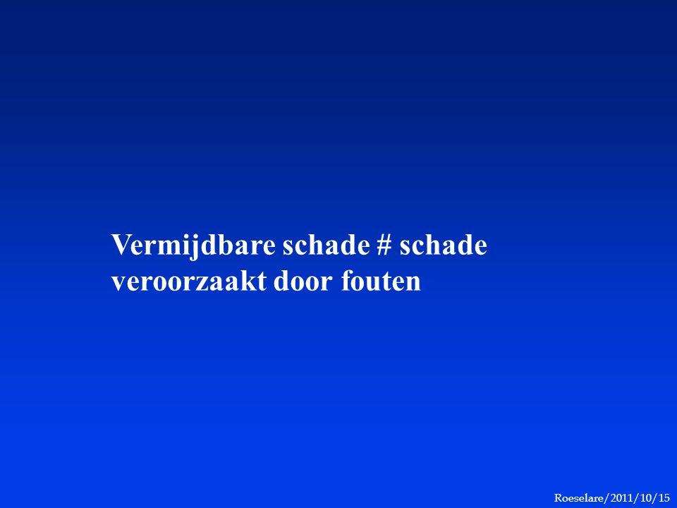 Roeselare/2011/10/15 Vermijdbare schade # schade veroorzaakt door fouten