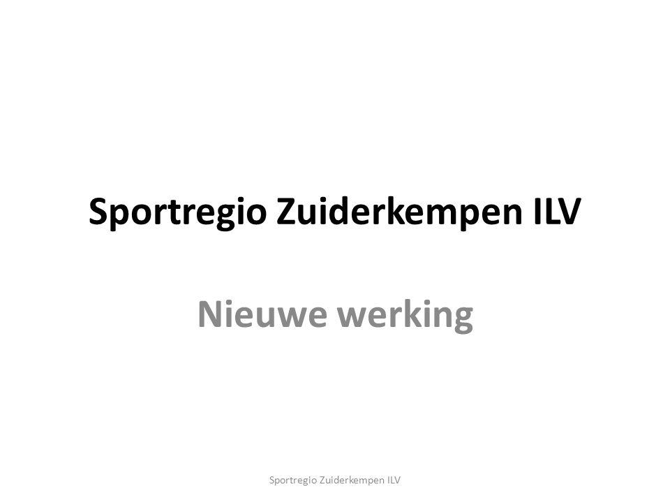 Nieuwe werking Sportregio Zuiderkempen ILV