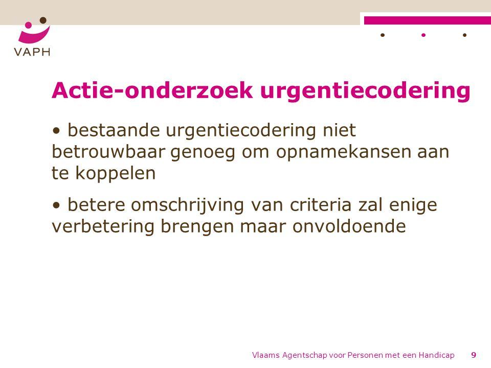 Actie-onderzoek urgentiecodering bestaande urgentiecodering niet betrouwbaar genoeg om opnamekansen aan te koppelen betere omschrijving van criteria z