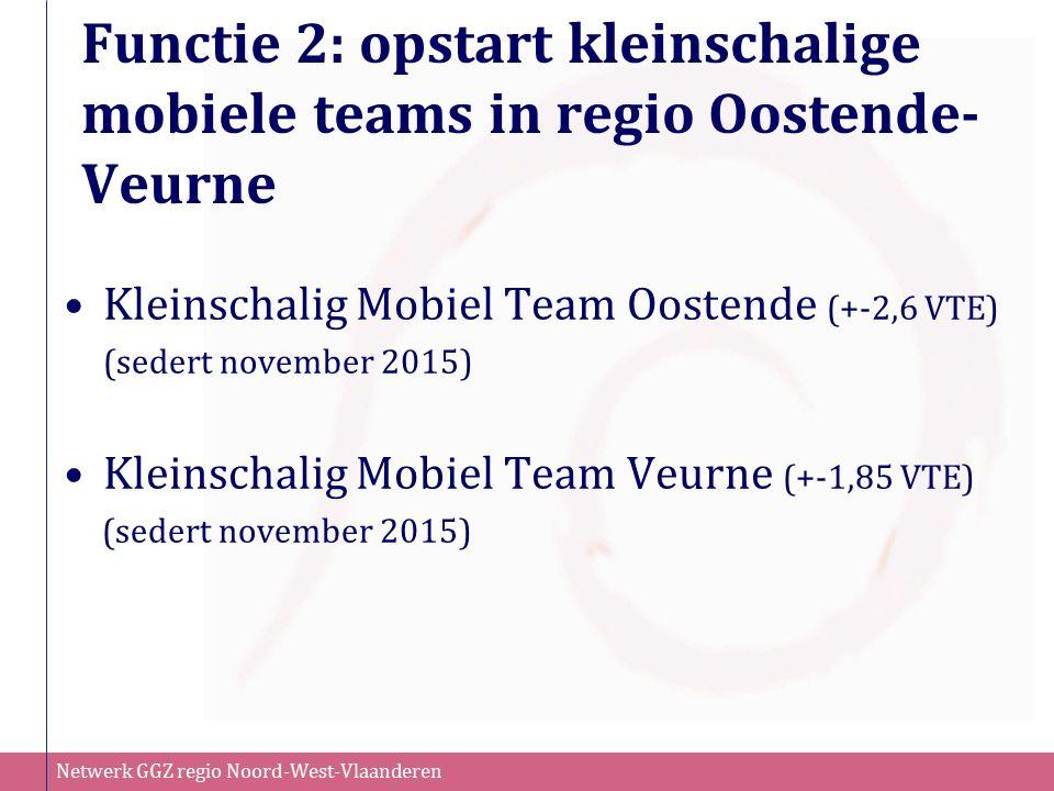 Netwerk GGZ regio Noord-West-Vlaanderen Functie 2: opstart kleinschalige mobiele teams in regio Oostende- Veurne Kleinschalig Mobiel Team Oostende (+-