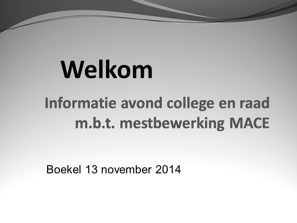 Welkom Boekel 13 november 2014