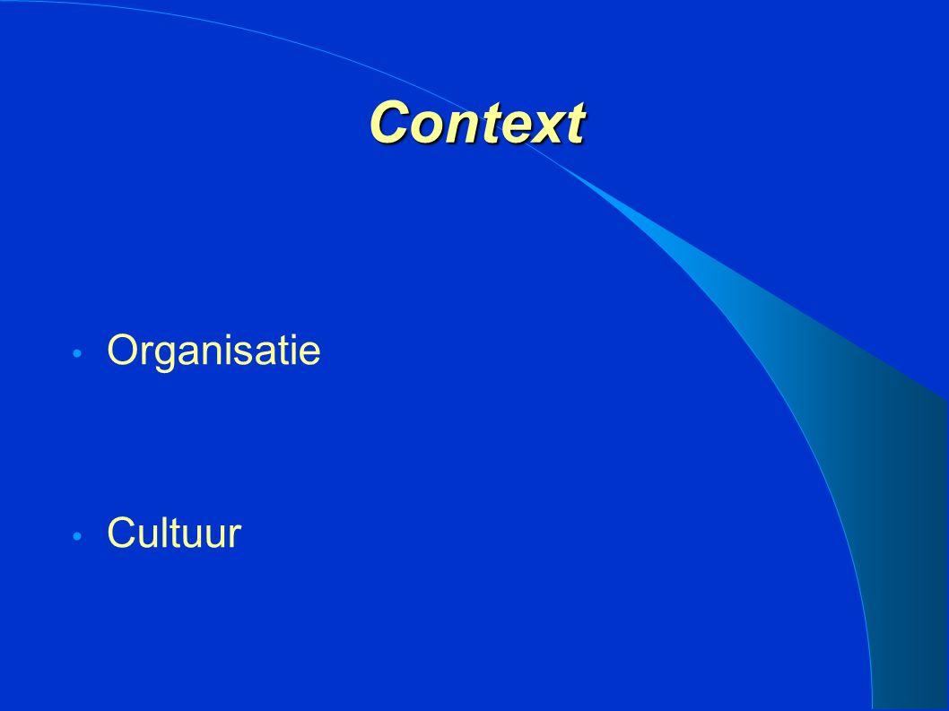 Context Organisatie Cultuur