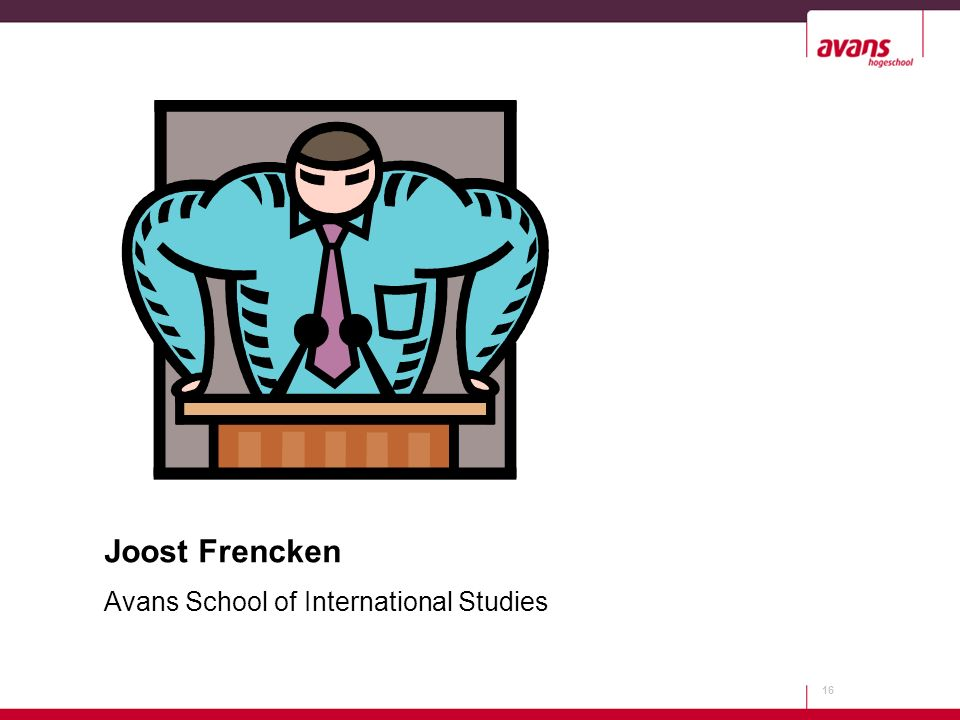 16 Joost Frencken Avans School of International Studies
