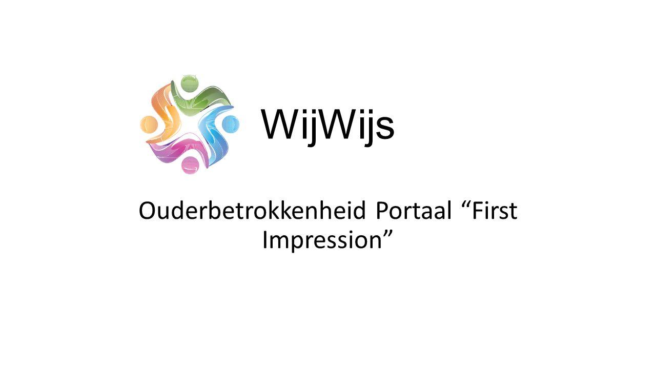 WijWijs Ouderbetrokkenheid Portaal First Impression