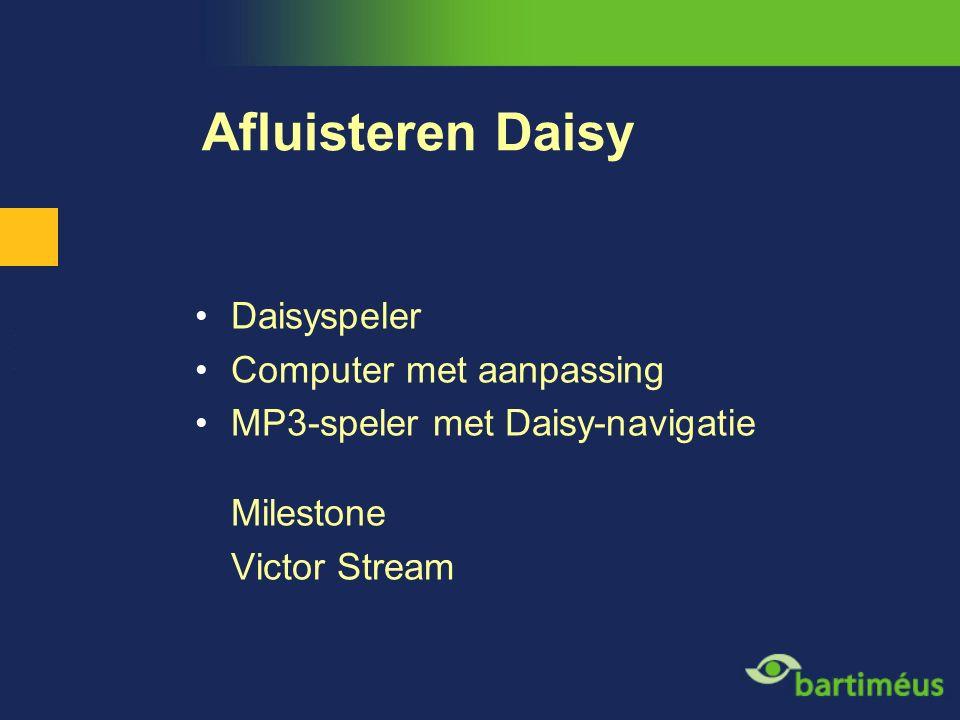 Afluisteren Daisy Daisyspeler Computer met aanpassing MP3-speler met Daisy-navigatie Milestone Victor Stream