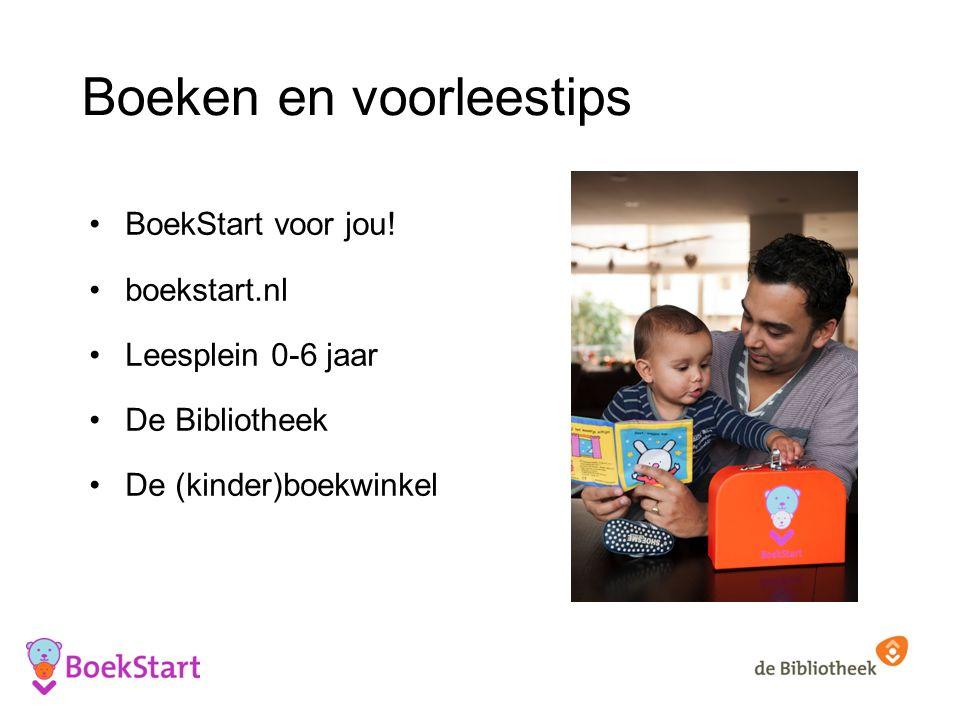 Boeken en voorleestips BoekStart voor jou.