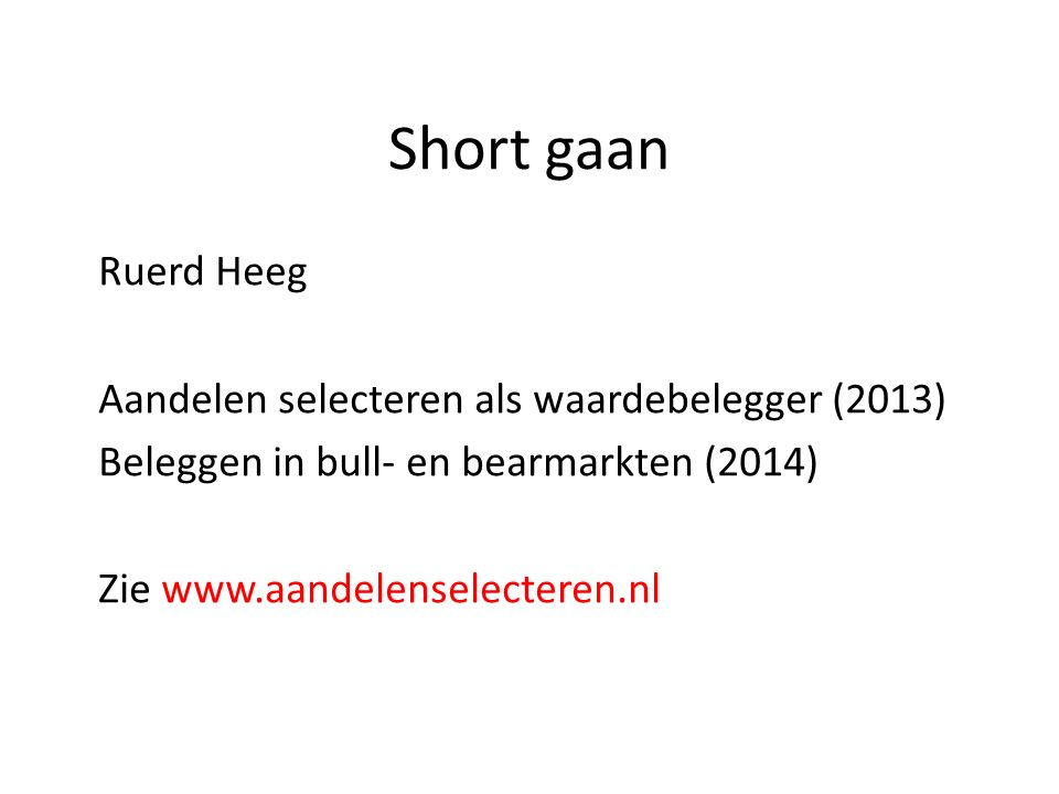 Eenmalige meevaller: GSV Capital 22 www.aandelenselecteren.nl