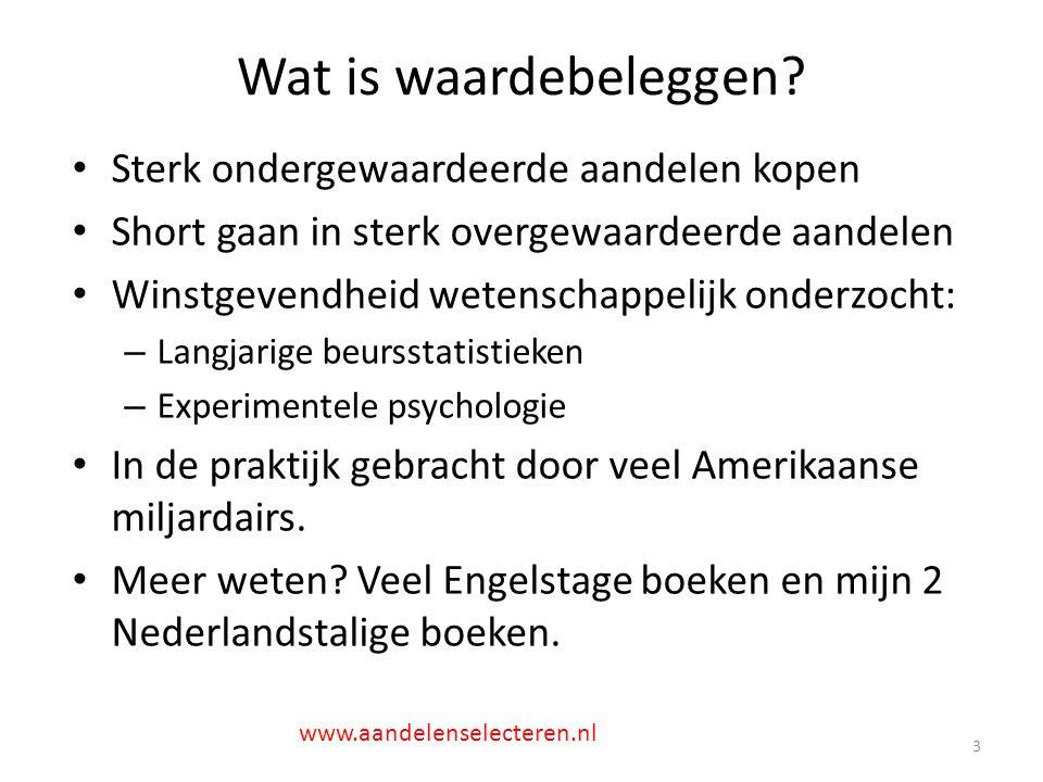 Niet: Amazon.com 14 www.aandelenselecteren.nl