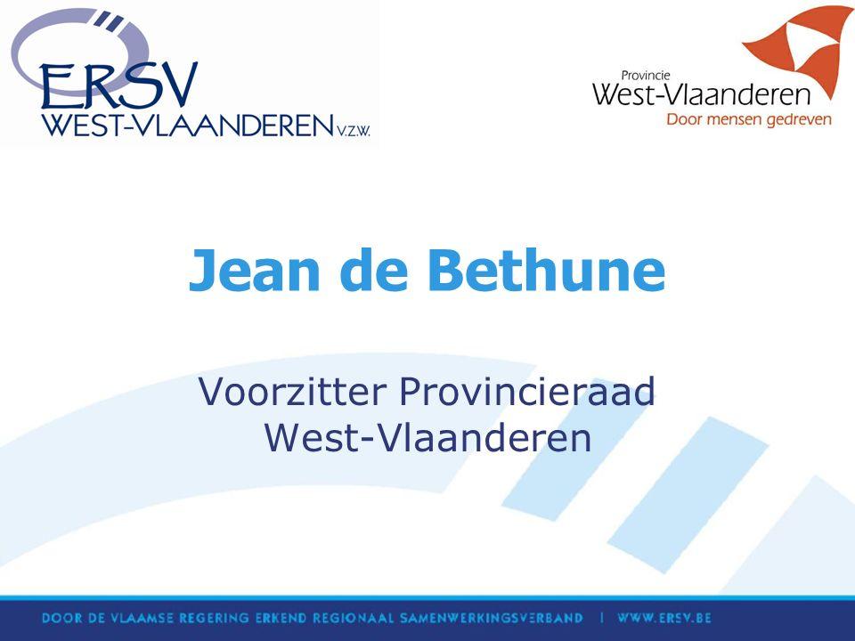 Jean de Bethune Voorzitter Provincieraad West-Vlaanderen