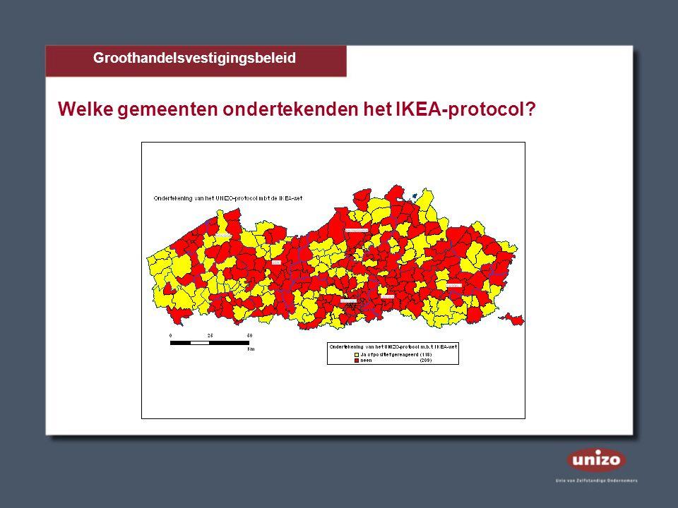 Welke gemeenten ondertekenden het IKEA-protocol? Groothandelsvestigingsbeleid