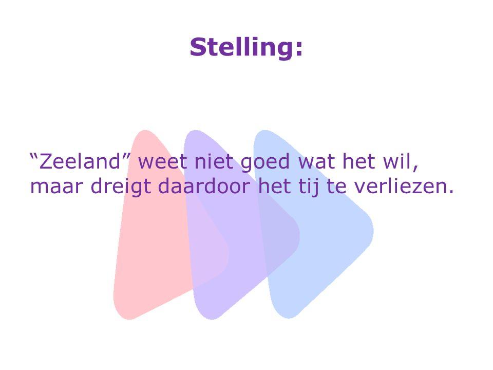 """Stelling: """"Zeeland"""" weet niet goed wat het wil, maar dreigt daardoor het tij te verliezen."""