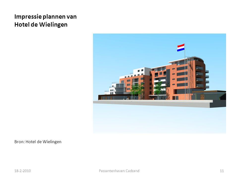 Impressie plannen van Hotel de Wielingen Bron: Hotel de Wielingen 18-2-201011Passantenhaven Cadzand