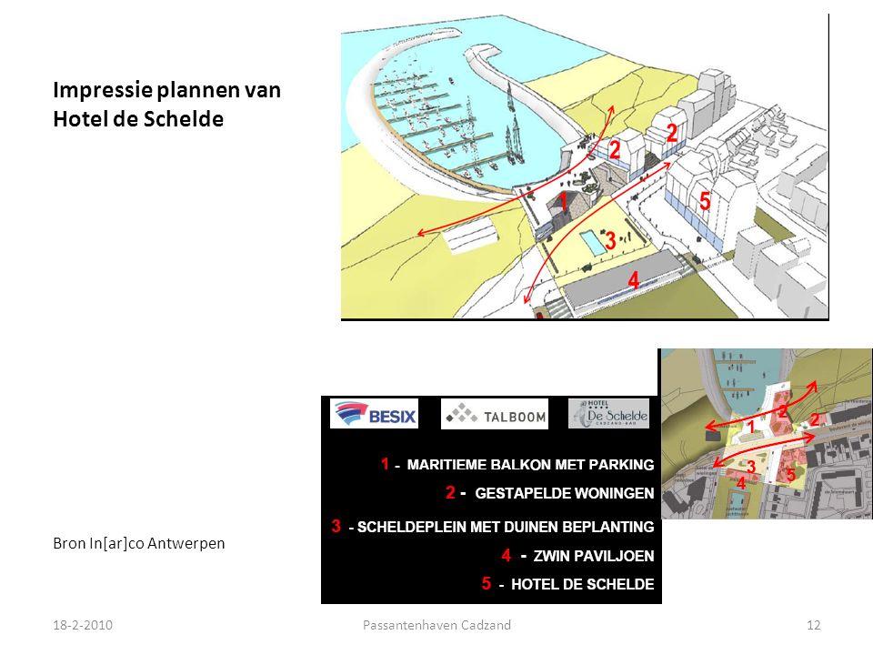 Impressie plannen van Hotel de Schelde Bron In[ar]co Antwerpen 18-2-2010Passantenhaven Cadzand12