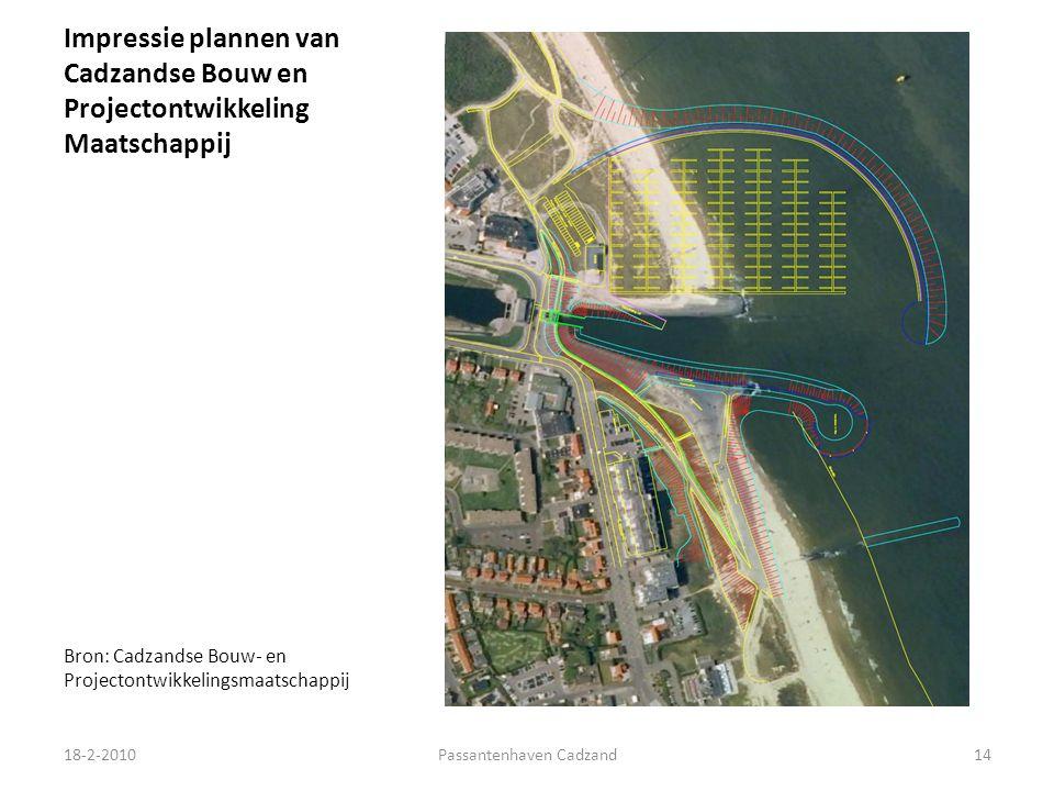 Impressie plannen van Cadzandse Bouw en Projectontwikkeling Maatschappij Bron: Cadzandse Bouw- en Projectontwikkelingsmaatschappij 18-2-201014Passantenhaven Cadzand