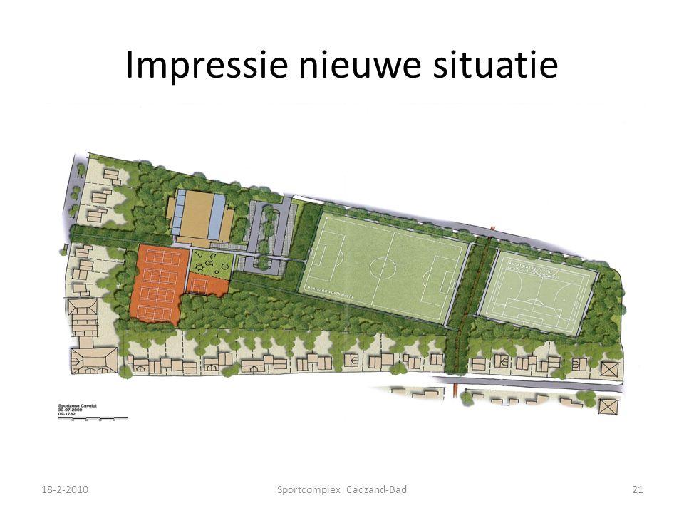 Impressie nieuwe situatie 18-2-2010Sportcomplex Cadzand-Bad21