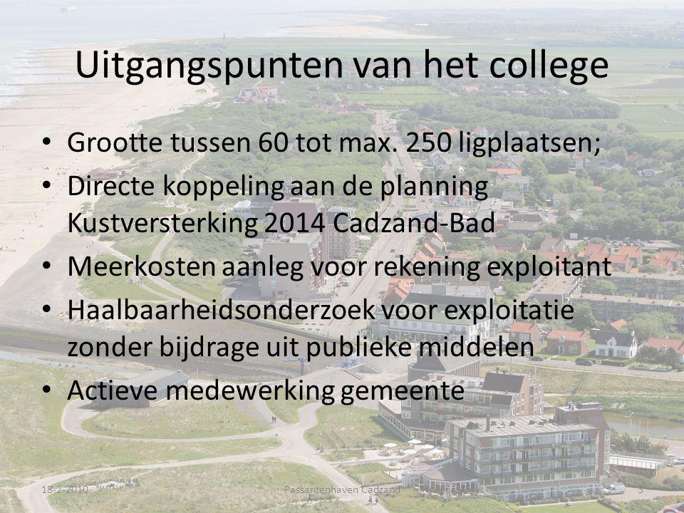 Uitgangspunten van het college Grootte tussen 60 tot max.