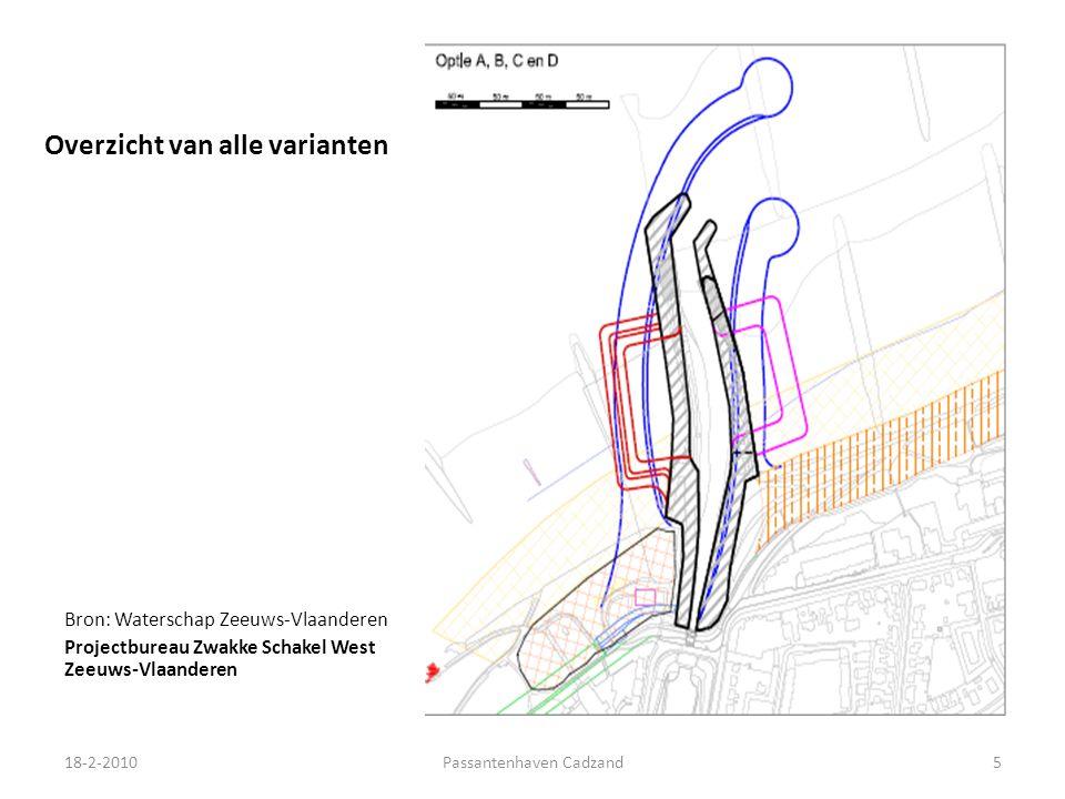 Overzicht van alle varianten Bron: Waterschap Zeeuws-Vlaanderen Projectbureau Zwakke Schakel West Zeeuws-Vlaanderen 18-2-20105Passantenhaven Cadzand