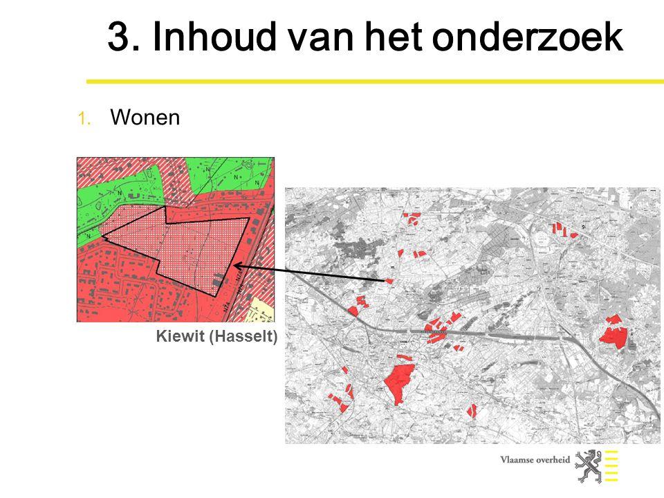 Kiewit (Hasselt) 3. Inhoud van het onderzoek 1. Wonen